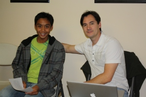 Playwright Matthew Maceda and Director George Ye